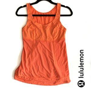 Lululemon Neon Orange Tame Me Tank Size 6